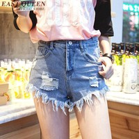 Denim shorts female women ripped shorts denim blue shorts for teenagers denim jeans shorts for teens  AA820
