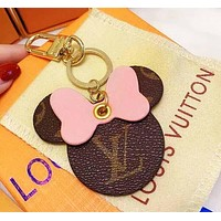 Onewel LV Louis Vuitton Mickey Keychain Mouse head Pink
