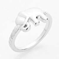 Elephant Knuckle Silver Ring