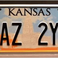 Supernatural / Winchester's Impala / KAZ 2Y5 & CNK 80Q3 / *METAL STAMPED* Vanity Prop License Plate Combo