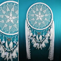 Decor Dreamcatcher Big Wedding Сrescent Dream Catcher Large Dreamcatcher Dream сatcher dreamcatchers boho dreamcatchers wall decor handmade
