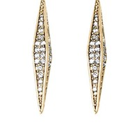 House of Harlow 1960 Jewelry Sparkling Marquis Earrings - Gold