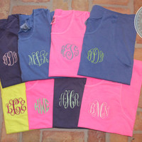 ON SALE Monogrammed Comfort Color Tank Top  14 by CoastCouture