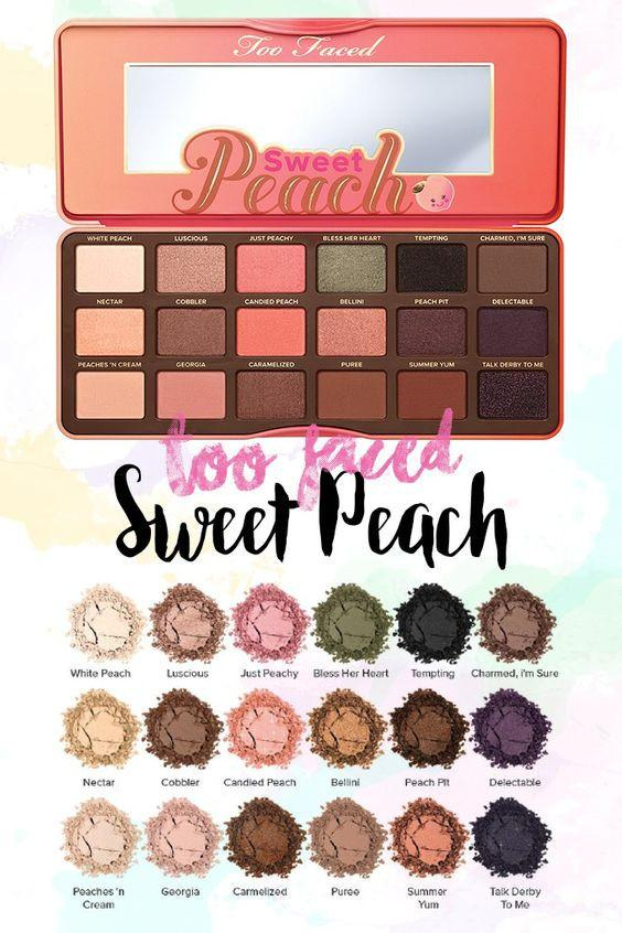 Image of Too Faced Sweet Peach Eyeshadow Palette (Makeup A to Z)