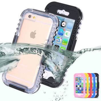 Waterproof iPhone  5 5S SE 6 6s 6 6S Plus Case Beach Holiday Cover Free Shipping
