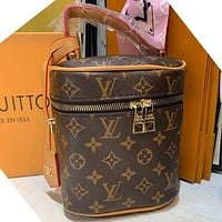 LV Fashion classic print bucket bag makeup bag handbag one shoulder cross-body bag lady