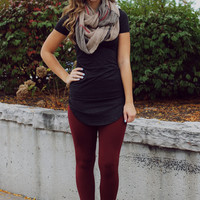 Street Chic Tunic- Charcoal