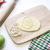 Star Wars Cookie Cutter StarWars Darth Vader Cookie Cutter Cupcake topper Fondant Gingerbread Cutters - Made from Eco Friendly Material