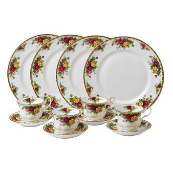 Royal Albert 'Old Country Roses' 12-piece Dinnerware Set | Overstock.com