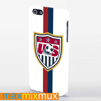 Usa Soccer White Jersey iPhone 4/4S, 5/5S, 5C Series Full Wrap Case