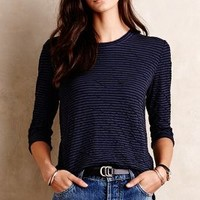 Stateside Striped Button-Back Tee