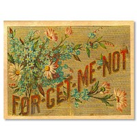 Everyday Wood Folding Card~Forget Me Not
