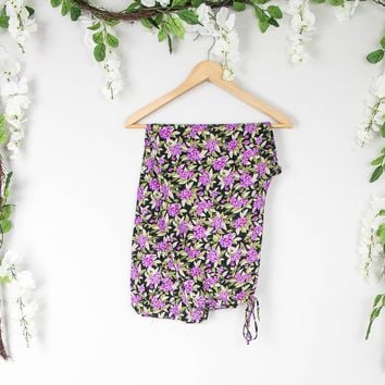 Vintage 26/27 Floral Print High Waisted Pants