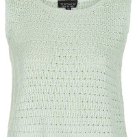 Knitted Sleeveless Crochet Top - Knitwear - Clothing - Topshop USA