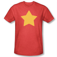 Steven Universe Star Adult Heather Red T-shirt |