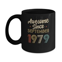 Awesome Since September 1979 Vintage 41th Birthday Gifts