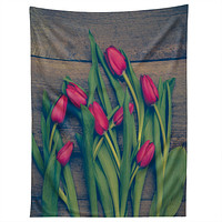 Olivia St Claire Red Tulips Tapestry