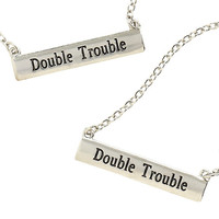 Blackheart Double Trouble Best Friend Necklace Set