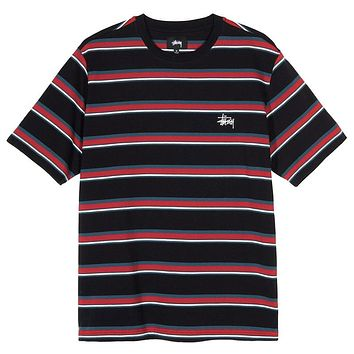 Harbour Stripe Crew Black