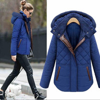 8842# European 2014 fat women plus size hooded cotton liner parka winter down jacket coats clothing women plus size xxxl 4xl 5xl/1552339KKNN2328 = 1958618820