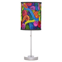Psychedelic Lines Table Lamp