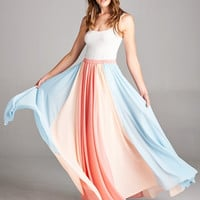 Twirlable Maxi Skirt - Coral