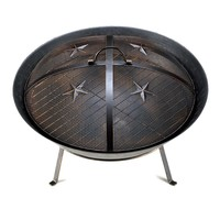Western Style Cast Iron Fire Pit