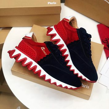 CL Christian Louboutin Female 35-41, Male 38-46 47 48 Fashion Low Top Red Soled Shoes Latest Casual Couple Sneakers Boots