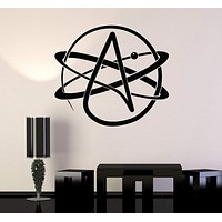 Wall Sticker Vinyl Decal Atom Atheism Religion Science Great Decor Unique Gift (ig1714)