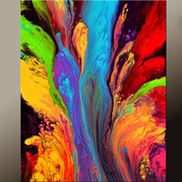 Abstract Art Print 11x14 Matted Contemporary Wall Art Prints by Destiny Womack - dWo - Reaching for Heaven