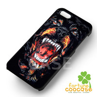 Wild Black Dog Scare Tooth for iPhone 4/4S/5/5S/5C/6/ 6+,samsung S3/S4/S5,S6 Regular,S6 edge,samsung note 3/4