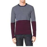 Striped Cotton and Cashmere Sweater | Michael Kors