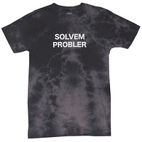 Funny Solvem Probler Mens Black Cloud Wash Graphic Tee (It's spelled wrong...get it?)
