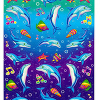 Lisa Frank  Dancing Dolphins  Under the Sea Sticker Sheet UNNUMBERED Reprint