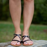 Forget Me Not Sandals: Black