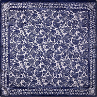 100% Silk Scarf Women Scarf Chinese Paper Cutting Art Hot Hijab Middle Square Silk Scarf 2016 Female Big Bandana Gift for Lady