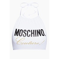 Moschino Couture High Neck Bikini Top - White
