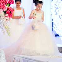 Flower Girl Dress - Lace Dress - Girls Dress - Wedding Dress - Bridal Special Occasion Flower Girl Dress by Isabella Couture