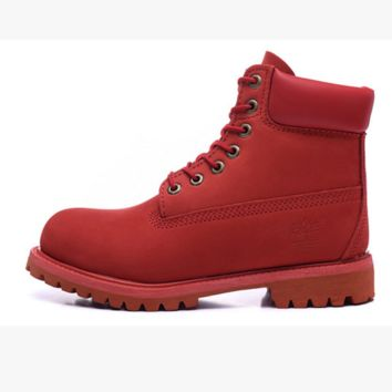 Timberland boots for men and women shoes waterproof Martin boots lovers Red