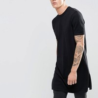 ASOS Extreme Longline Knitted Tshirt with Side Splits at asos.com