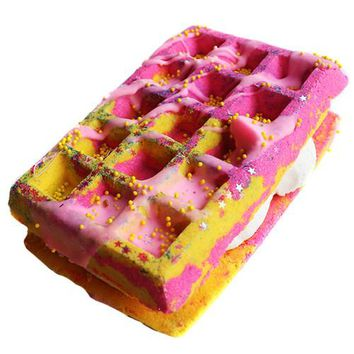 Cranberry Peach & Vanilla Waffle Sandwich Bath Bomb+ Bubble Bar