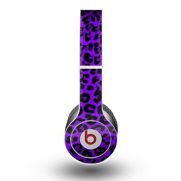 The Vibrant Violet Leopard Print Skin for the Beats by Dre Original Solo-Solo HD Headphones