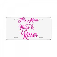 this mom hugs kiss es License Plate