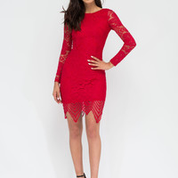 Forever Flawless Lace Midi Dress