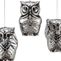 3 Wise Owls Ornament   Ornaments   Holiday   Gifts   Z Gallerie