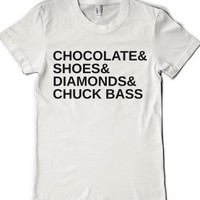 chuck bass-Female White T-Shirt