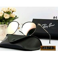 Ray Ban new men and women models personalized color film large frame retro polarized sunglasses #4