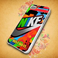 colorful-nike-and-just-do-it For Apple Phone, IPhone 4/4S Case, IPhone 5 Case, Cover Plastic