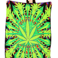 POT LEAF FLEECE BLANKET