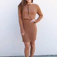 Just The Two Of Us Dress {Camel}